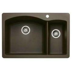 silgranit kitchen sink | ... Diamond Cafe Brown 1 and 1 2 Bowl Silgranit Drop In Kitchen Sink