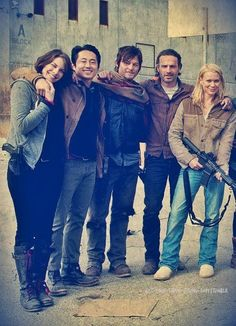 Walking Dead cast. Perfect, except for Andria..