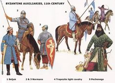 La Pintura y la Guerra. Sursumkorda in memoriam Military Art, Military History, Byzantine Army, Medieval Paintings, Medieval Drawings, Zombie Army, Military Costumes, High Middle Ages, Roman Soldiers