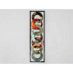 Design Wandbild Metallbild Ringe Kreise Wanddeko Wohnzimmer 26x90cm Modern  | Möbel U0026 Wohnen, Dekoration,
