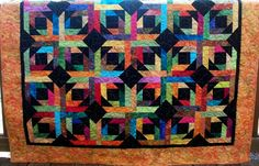 OMG! I love this quilt! Gorgeous colors!    Geometric Quilt Modern Batik Quilt Lap Quilt  60 x by warmnfuzzies, $200.00