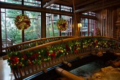 Enjoy the cozy, winter feel of Christmastime at Disney's Wilderness Lodge.