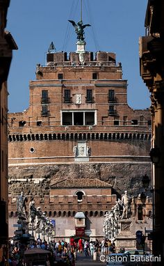 Castel Sant'Angelo, Roma , Italia by Batistini Gaston, via Flickr