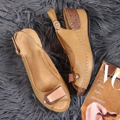 Plain High Heeled Peep Toe Date Travel Wedge Sandals Trendy Sandals, Women Sandals, Shoes Women, Peep Toe, Comfy Shoes, Slingback Sandal, Wedge Sandals, Shoes Sandals, Me Too Shoes