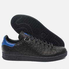 adidas Originals Stan Smith Core Black/Collegiate Royal. Article: S80023. Release: 2016. Made in India.