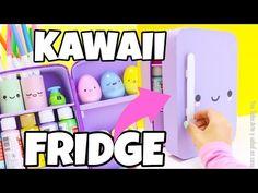 Creative miniature kawaii fridge, desk organizer. - YouTube