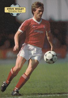Circa Nottingham Forest winger Steve Wigley in action, at the City Ground. Nottingham Forest Fc, Football Kits, Ant, Golden Age, Terrace, Action, Hero, Adidas, Baseball Cards