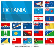 worldfactsinc - Oceania - Facts & List Of Countries Countries And Flags, List Of Countries, Countries Of The World, All World Flags, World Country Flags, Kiribati Flag, Asia Map, World Geography, Flags Europe