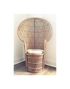 1970s Vintage Wicker Peacock Chair by SweetheartMercantile on Etsy