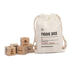 Look what I found at UncommonGoods: foodie dice... for $24 #uncommongoods