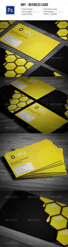 Hny - Honey Company Business Card