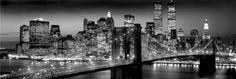 New York (Manhattan black Berenholtz) - plakat -  91,5x30,5 cm  Gdzie kupić? www.eplakaty.pl