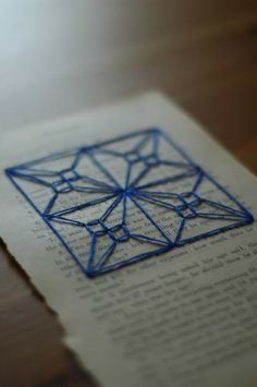 ::paper embroidery by Emu
