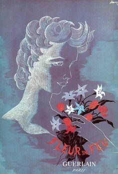 Fleur de Feu // Guerlain Paris // Vintage Perfume Ad