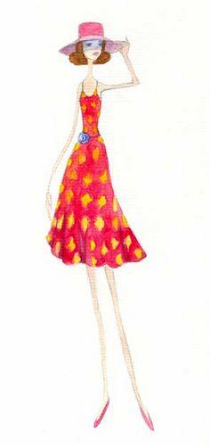 """quenalbertini's """"Fashion Illustration"""" -  red dress illustration, via flickr.com..."""