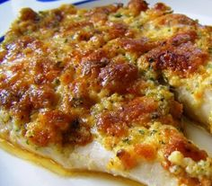 Parmesan Tilapia - my son described this as a better than awesome dinner!