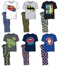 Mens #novelty cartoon character marvel #t-shirt nightwear pj #pyjama set xmas gif,  View more on the LINK: http://www.zeppy.io/product/gb/2/182248315785/