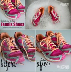 How to wash your tennis shoes in the washing machine pinterest this is a step by step tutorial of the best way to clean tennis shoes to bring them back to their former glory almost like the day bought them ccuart Gallery