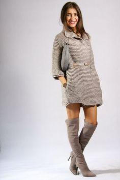 Мини-пальто или кардиган?Идея для объёмного вязания. Обсуждение на LiveInternet - Российский Сервис Онлайн-Дневников