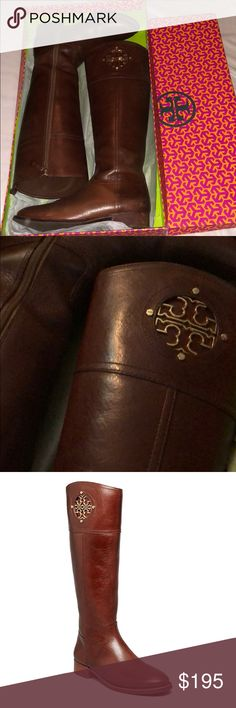 TORY BURCH Kiernan riding boots side zip $495 Gorgeous TORY BURCH riding boots KIERNAN 35mm leather. Color is Almond. Great shape, not perfect, look at all pics to see the slight flaws. $495 price, sold out online. Goes just to my knee, they didn't go over my knee. Tory Burch Shoes Over the Knee Boots