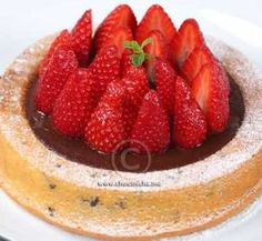 Recette Tarte moelleuse à la ganache et aux fraises