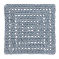 Stitchfinder: Crochet Block: Concentric Squares