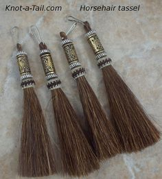 Elegant Beaded #horsehair tassels very unique  by Knotatail.com  http://knot-a-tail.com/catalog/16