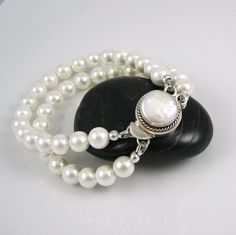 EMMA Bridal Bracelet And Earring Set Sterling Silver by lissa73, $60.00