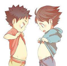 smol Iwa-chan and Oikawa....precious babies <3