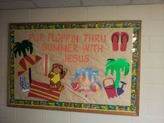 My summer camp bulletin board