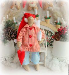Купить Новогодний Сонный ангел Гарольд - сонный ангел, соня, сплюшка, сплюх, ангел тильда