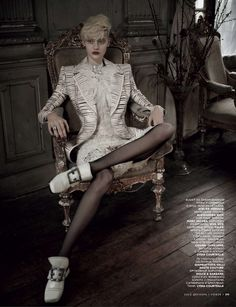 nastya kusakina by mariano vivanco for vogue russia december 2012