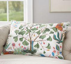 Evie Floral Print Lumbar Pillow Cover @ Pottery Barn
