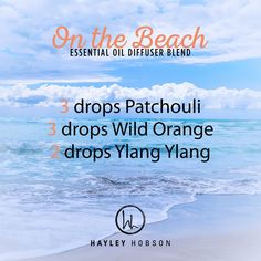 Who doesn't love the beach, right? I know I do! Well, this is a great diffuser blend to make you feel like you are on the beach, no matter where you are! Plus you get the amazing benefits of these wonderful essential oils! Patchouli has a calm, grounding effect. Wild Orange protects against seasonal and environmental threats, and Ylang Ylang lifts the mood. This combination gives a sweet, citrus, floral aroma that will have your senses sailing away to the beach in no time…