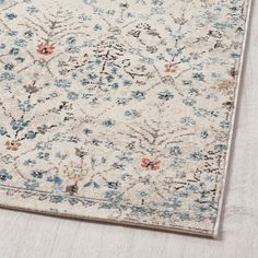 ROMDRUP Rug, low pile – off-white antique look, floral patterned – IKEA – Rug making Ikea Living Room, Living Room Carpet, Dining Room Rugs, Ikea Rug, Ikea Ikea, Rug Over Carpet, Ikea Carpet, Basement Carpet, Eclectic Rugs