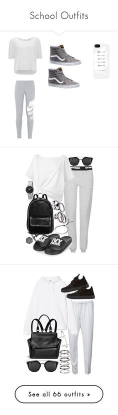 """""""School Outfits"""" by fabreezyyy ❤ liked on Polyvore featuring NIKE, Vero Moda, Vans, Topshop, Red Herring, STELLA McCARTNEY, Michael Kors, Simply Vera, Skagen and Alexander Wang"""