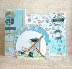 Katrina's Crafting Blog: Z-fold card made with Take It Easy stamp and papers from Papercraft Inspirations magazine