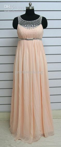 Wholesale 2013 New arrival Empire waist Ruffle Sparkly Beaded Chiffon Floor length Scoop Plus size Prom dress, Free shipping, $156.8-162.4/Piece | DHgate