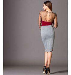 Ελαστική Pencil Φούστα Καρό - Γκρί Backless, Two Piece Skirt Set, Skirts, Dresses, Fashion, Vestidos, Moda, Fashion Styles, Skirt