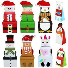 ● You also get 1 paper sweet bag ( designs sent at random - sweets/accessories NOT included ). ● Cute Christmas stacking boxes from Oxford Novelties ! ● All boxes fit inside each other. Browse an extensive range of similar products.