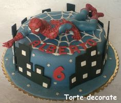 Spiderman cake for Jacob but without the toy I'd make spidermans face on top.