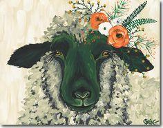 Spring Whitaker, Maeve, lamb, Skyline, print, printing, fine art, giclee
