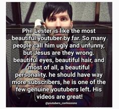 I like a lot of youtubers, but he's by far my favorite and I totally agree with this post