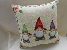 image of three  dwarves fairy tale   pillow cover  di Ilfilodoro, €31.00