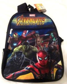 c1cdc6b1d7 Marvel Avengers Infinity War Black Panther Spider-Man Backpack School Bag  NEW  fashion