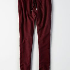 AE Classic Fleece Jogger ($28) ❤ liked on Polyvore featuring men's fashion, men's clothing, men's activewear, men's activewear pants, red and american eagle outfitters