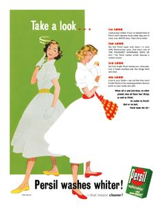 1954 Persil Washing Powder ad