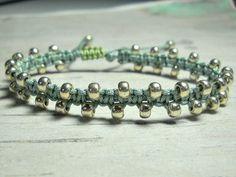 Items similar to Sage Macrame Bracelet - Beaded Macrame Bracelet - Beadwoven Bracelet - Bead Bracelet - Gifts For Her - Womens Jewelry - Boho Bracelet on Etsy Fashion Bracelets, Fashion Jewelry, Women Jewelry, Unique Jewelry, Gifts For Her, Great Gifts, Bohemian Style Jewelry, Macrame Bracelets, Bracelet Making