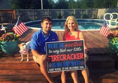 July Pregnancy Reveal // Pregnancy Announcement // Fourth of July // of July // Firecracker July Baby Announcement, Baby Announcement Pictures, New Baby Announcements, Salford City, Memphis, Pregnancy Countdown, Angeles, Baby Boy Nurseries, Trendy Baby