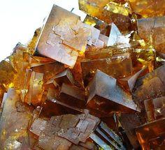 Golden yellow Honigspat Fluorite (Honey Fluorite) from Bavaria, Germany